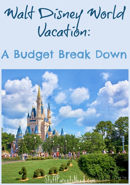 walt disney world vacation budget