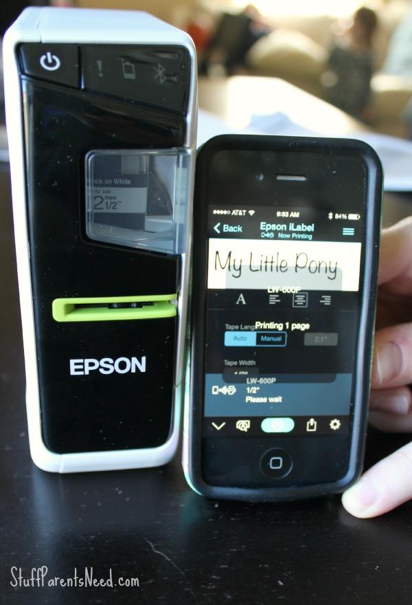 epson labeling device LW-600P 5