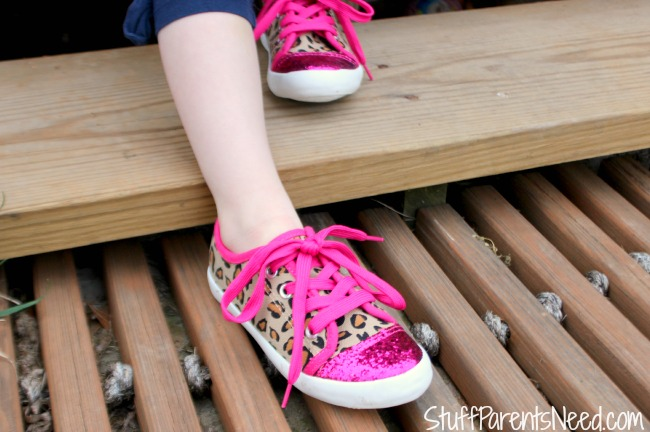 cute childrens shoes pink leopard sneakers 2