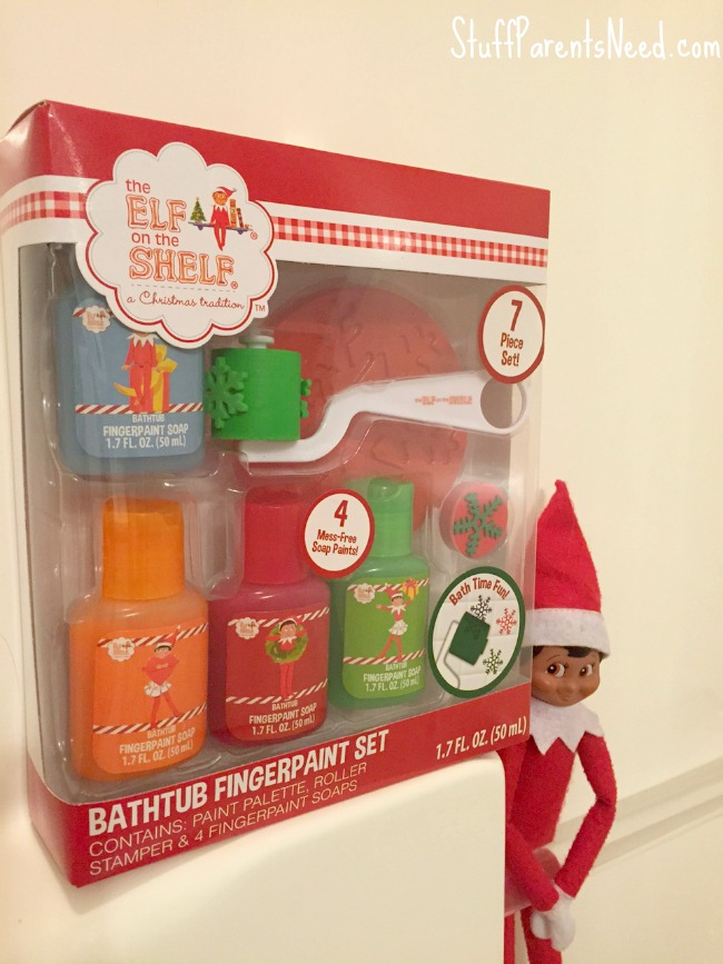 elf on the shelf bathtub stuff
