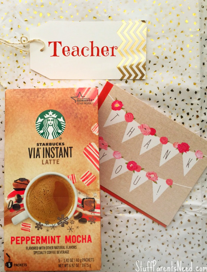 teacher gift starbucks