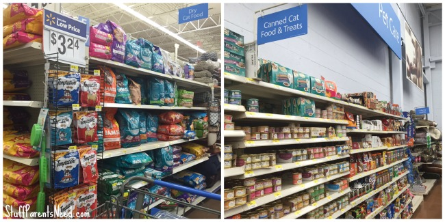 cat food location walmart
