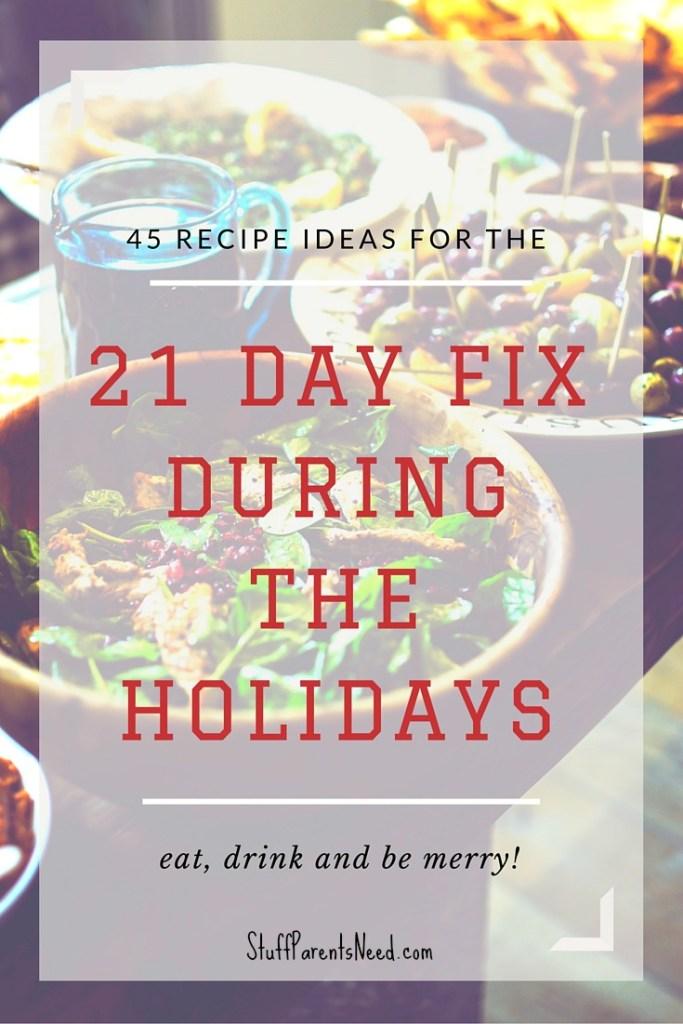 21 day fix holiday recipes
