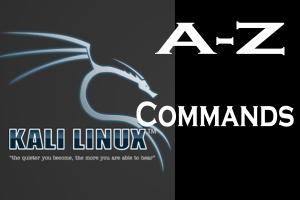 a to z kali linux commands
