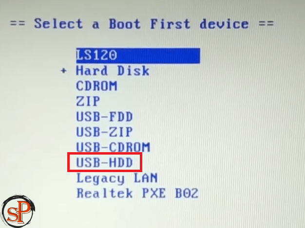 boot to usb