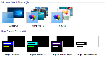 high contrast themes windows 10