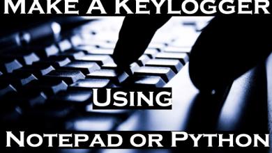 make a keylogger using notepad or python