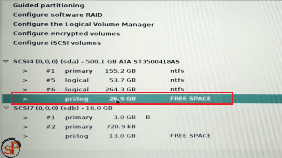 select partition 25gb