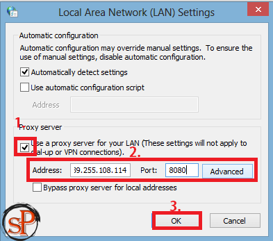 change proxy settings