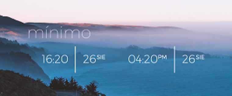 minimo simple rainmeter skin