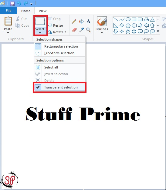 Make Background Transparent In Paint
