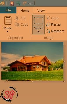 crop image using paint