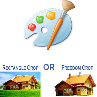 How To Crop In Paint (MS Paint – Rectangle and Freedom Crop)