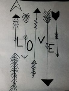 love arrows easy things to draw