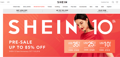 wish app alternative shein
