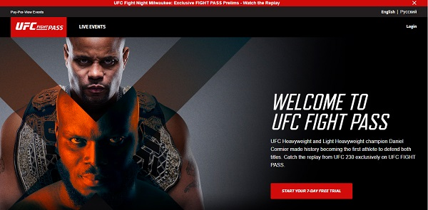 ufc tv website