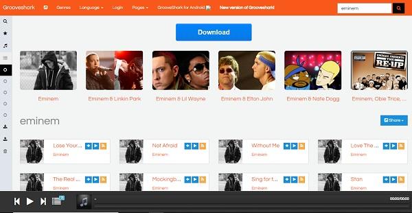 grooveshark music site