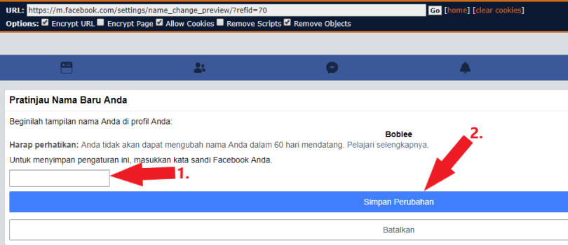 remove last name from facebook