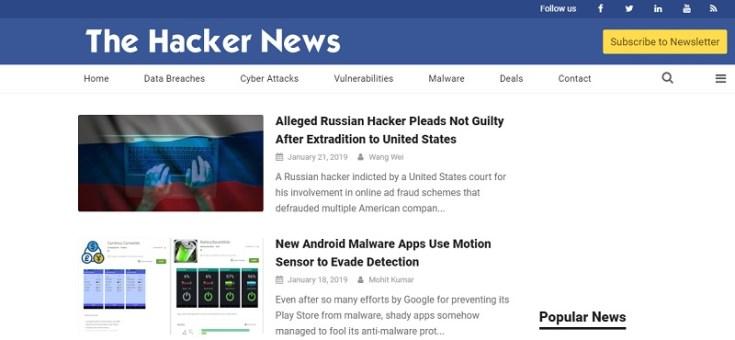 the hacker news blog
