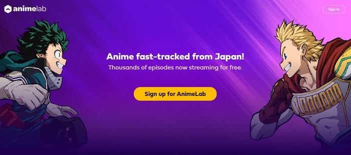 anime lab free website