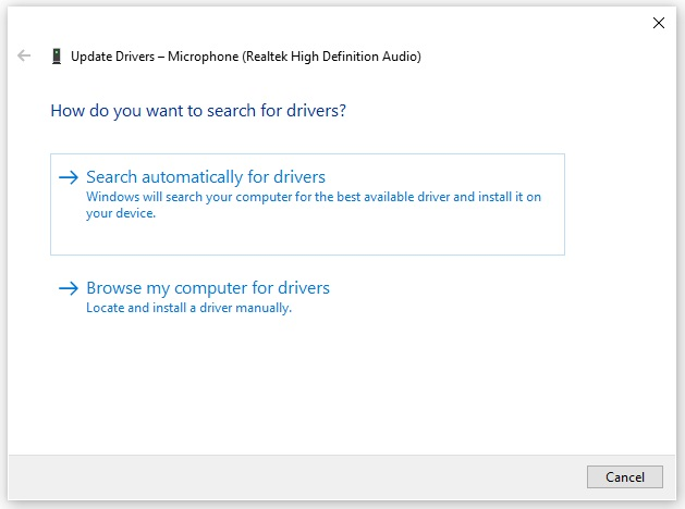 search for drivers online device manager windows 10