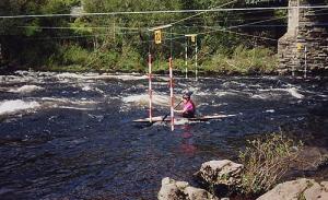 Me slalom canoeing