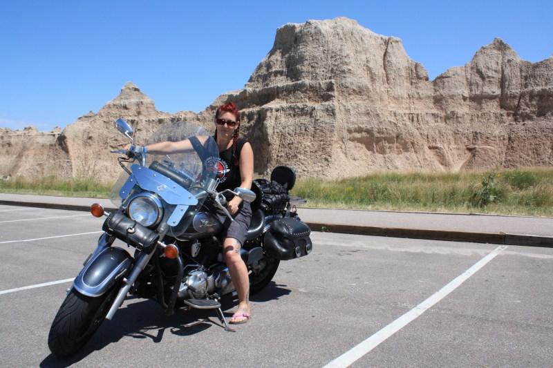 Posing at Badlands