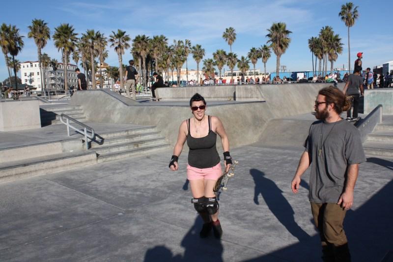 Skateboarding Venice Beach Skatepark