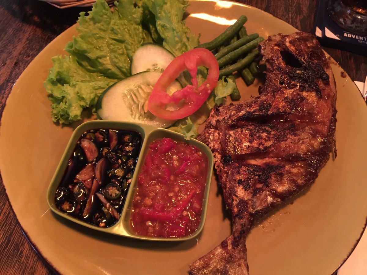 Grilled fish for dinner