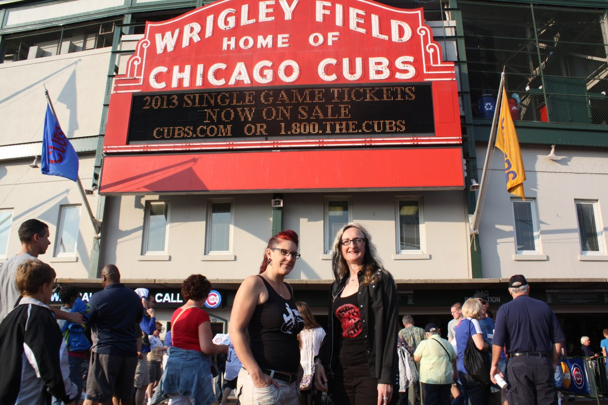 Outside Wrigley Field, Chicago