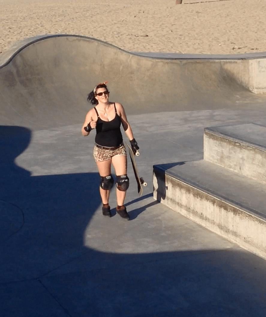 Skateboarding Venice Beach
