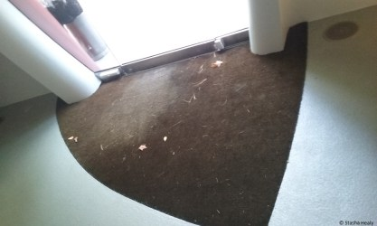 Doormat in Da Monsta follows the shape of the door