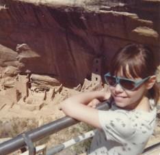 Stasha at Mesa Verde, April 1977