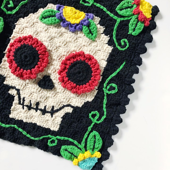 C2C Day of the Dead Welcome Mat