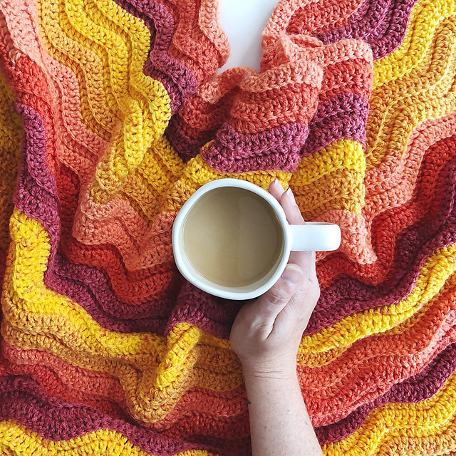Ribbed Ripple Stitch Blanket