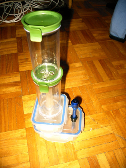 how to make a bong with tupperware