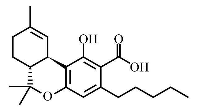 thc chemical structure before decarb