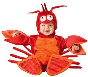 Get you baby dressed up as a lobster for Halloween