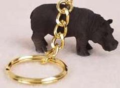Hippopotamus Key Chain