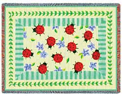 ladybug throw blanket