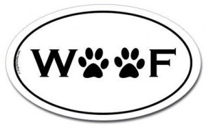 Woof Paws Bumper Sticker