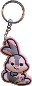 baby rabbit keychain