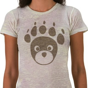 Bear paw and bear face t-shirt