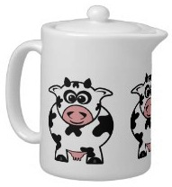Tea time became better with this cows teapot