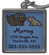 Cute dog id tag