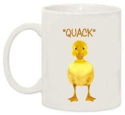 Duck quack coffee mug
