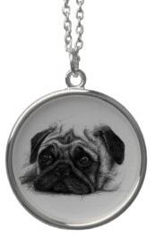 Cute pug necklace