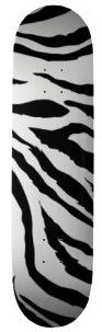 Skateboard with Zebra print