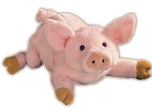 "Gund 14"" plush pig"