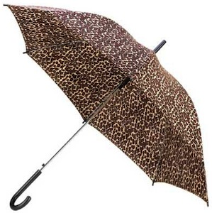Leopard print nylon umbrella